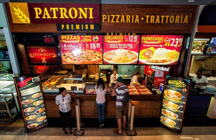 Pizzaria Patroni do Shopping Vila Olimpia. Foto: Rafael Neddermeyer/ Criadores de Imagens
