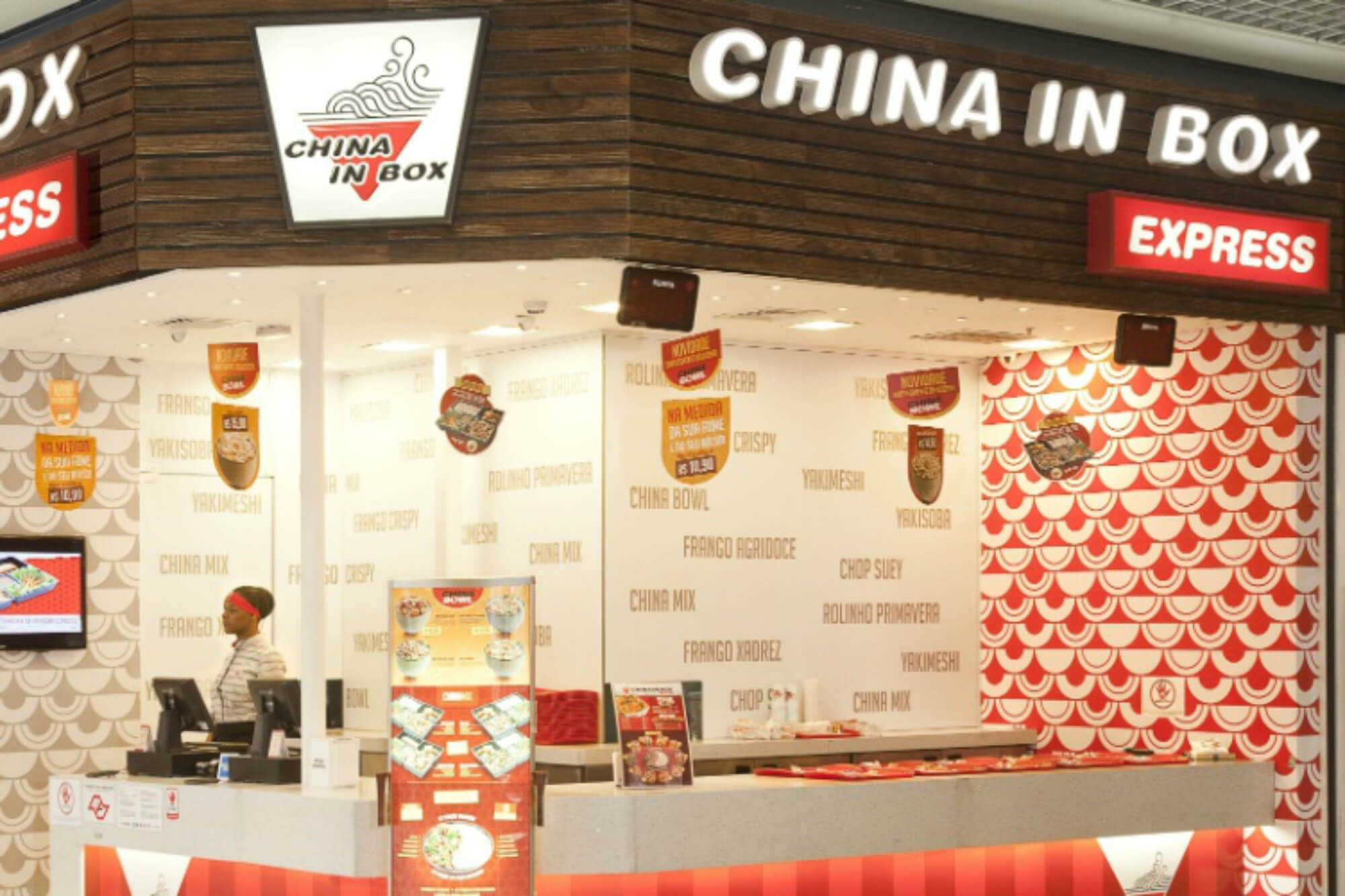 franquias de fast food china in box