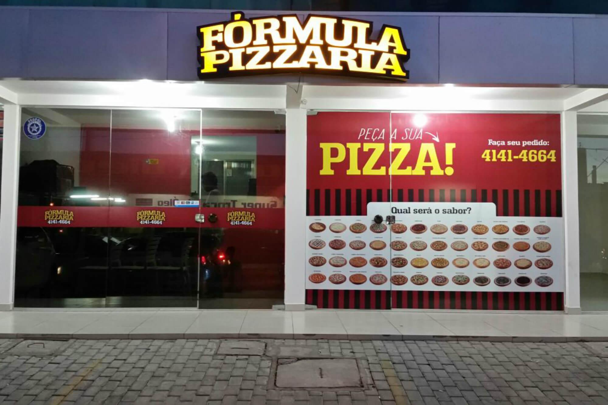 Fórmula Pizzaria ponto comercial de uma franquia de pizzaria