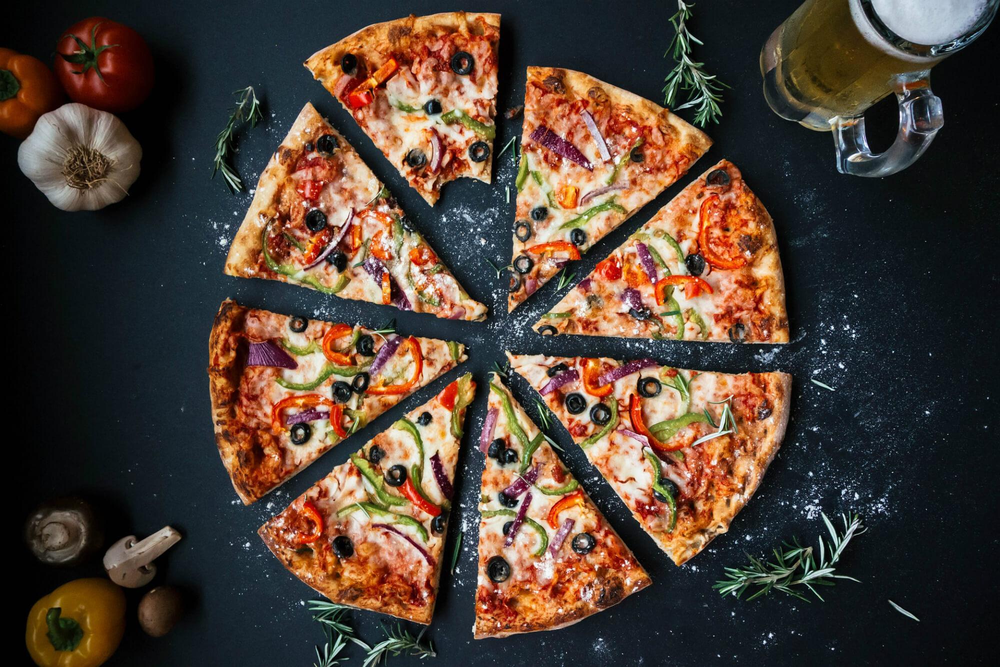 ponto comercial de uma franquia de pizzaria