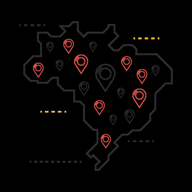 Mapa de Franquias da Encontre Sua Franquia