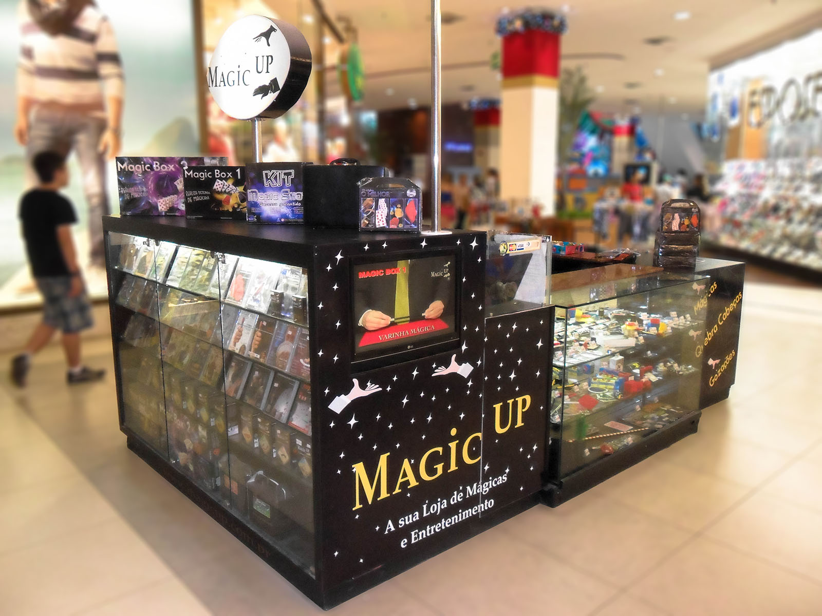 quiosque Magic Up shopping
