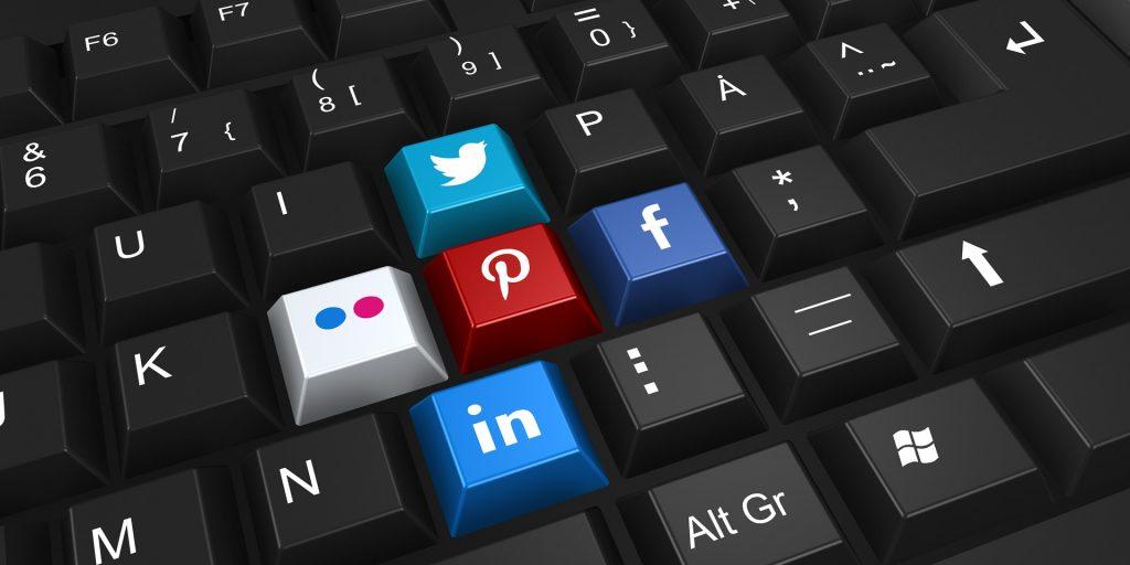estratégias de marketing redes sociais logotipos