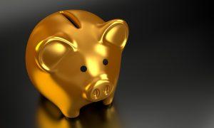 porquinho dourado ilustrativo lucro opções de negócio
