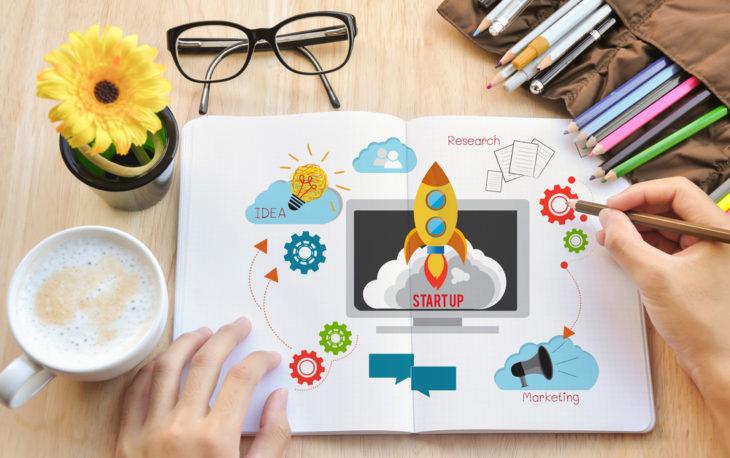 taxa de marketing foto ilustrativa marketing colorido