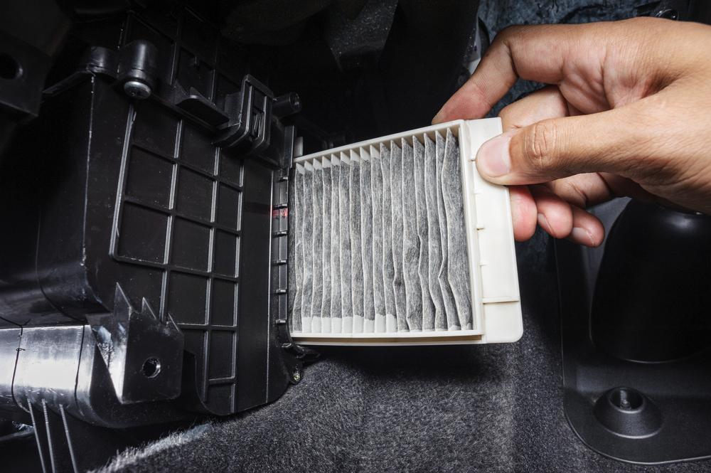 troca do filtro do ar-condicionado higienização