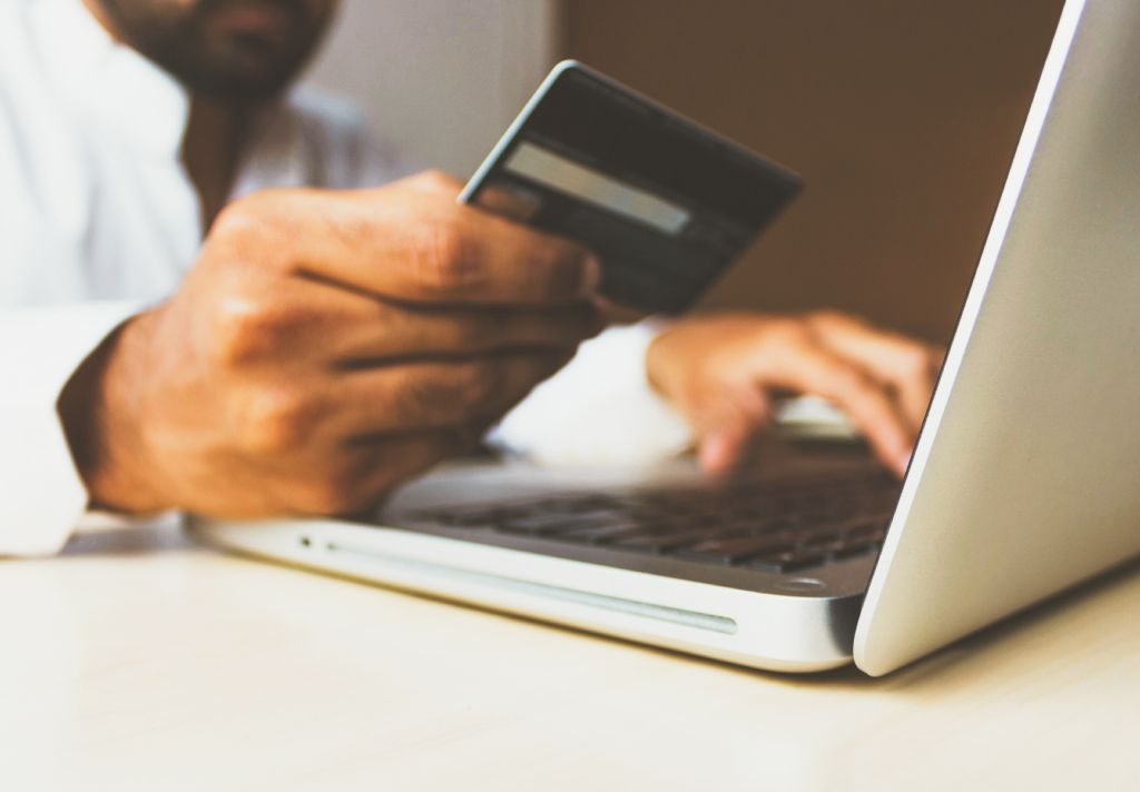 cartão de crédito notebook