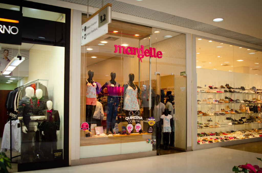 fachada da franquia Mardelle em shopping