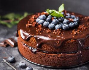 Franquia de bolo: imagem de um bolo de chocolate